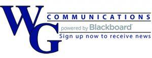 WG Communications powered by Blackboard Logo