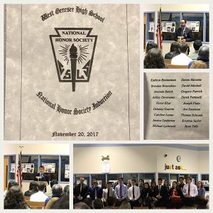 WGHS Fall 2017 National Honor Society Induction