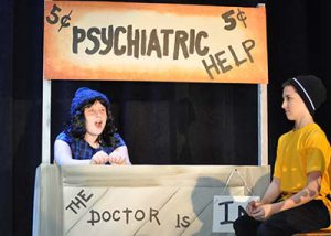WGMS Musical Charlie Brown Lucy at Psychiatric Booth