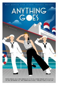 WGHS Musical Anything Goes Poster