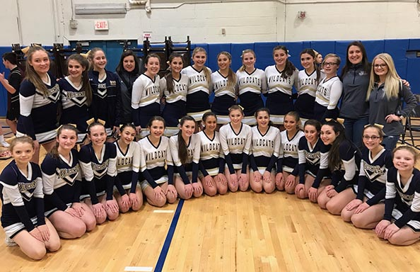 WGHS Cheerleaders Champions Winter 2018