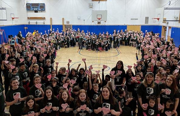 Split Rock Students Form A Positivity Heart