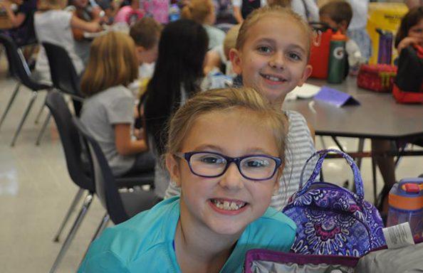 Split Rock Two Girls smiling