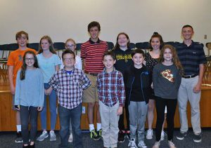 District Spelling Bee 2017 Top 12 Spellers