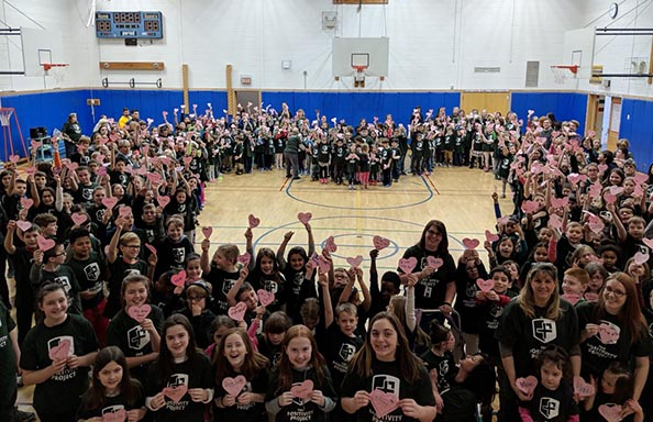 Split Rock Students Form A Positivity Heart
