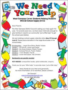 Supply Drive 2018 Flyer