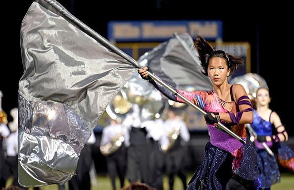 Fine Arts Marching Band Flag