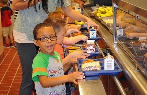 Split Rock First Day of School Boy in Cafeteria Line