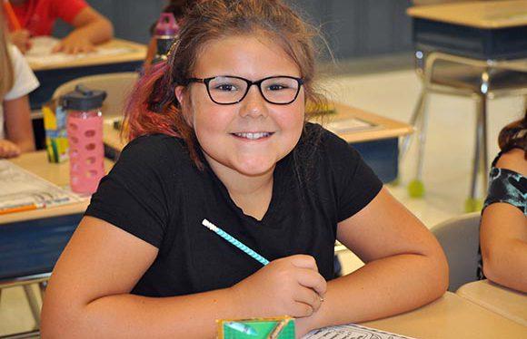Split Rock First Day of School Girl in Class