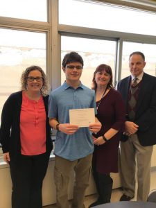 Presentation of National Merit Finalist Certificate