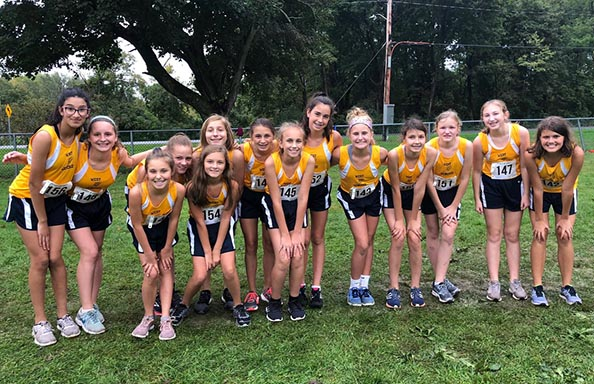 Modified Girls Cross Country Team