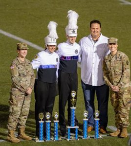 Marching Band Majors Receive Trophies at Tidewater Regional Competition