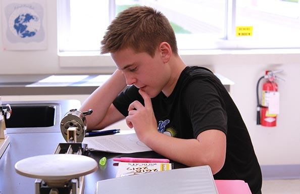 Boy in Science Class