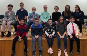 Top 12 WG District Spelling Bee Students