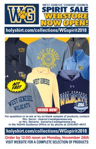WGHS Spirit Wear Sale Flyer