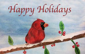 Holiday Card Artwork by Claire Devore at CMS