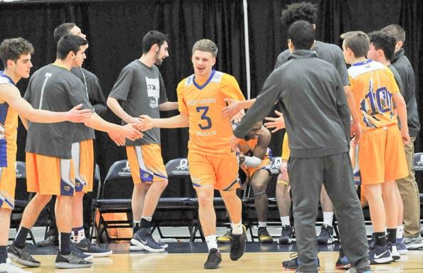 Boys Basketball Introducing Players