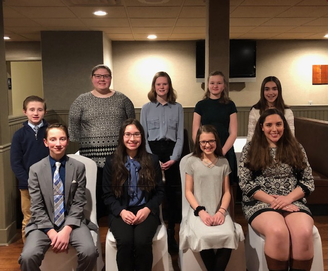 Camillus Speech Contest Participants 2019