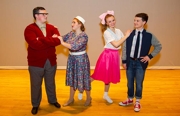 Group Pic of Cast in Bye Bye BIrdie