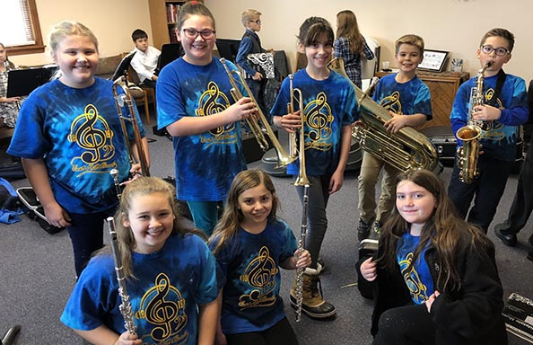 Middle School Band Members