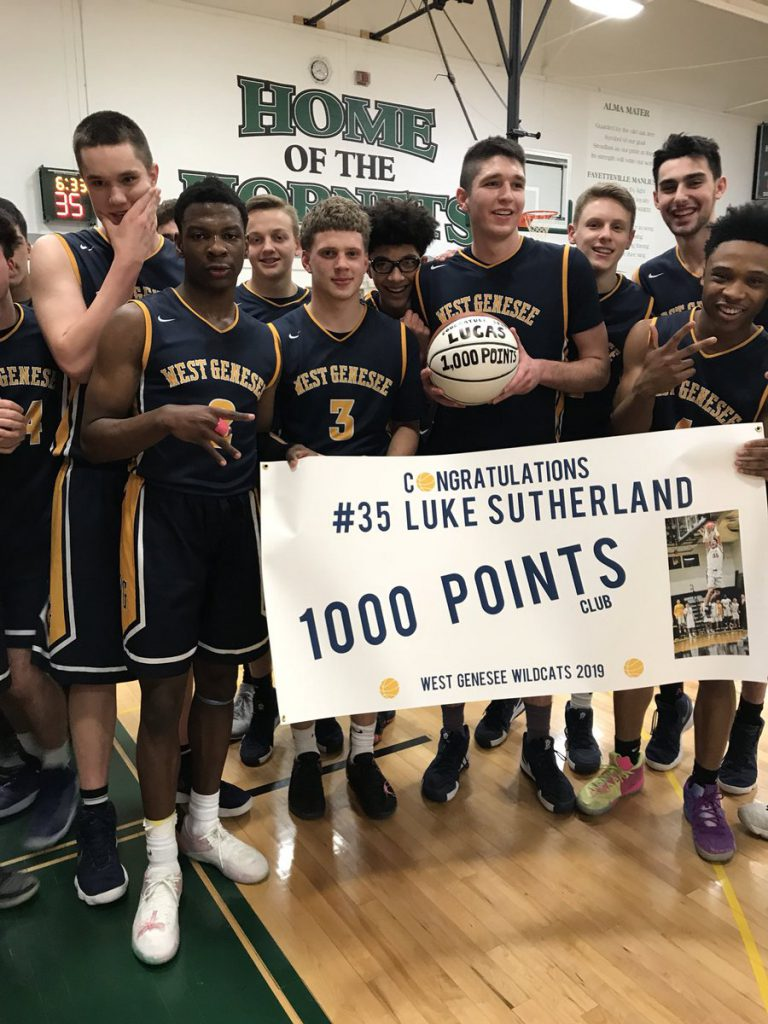 Luke Sutherland his 1,000 Club