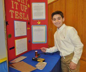 CMS Science Fair Boy