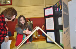 WGMS Science Fair Judy Allen with Student