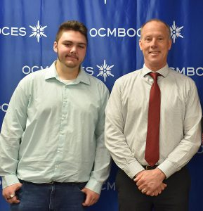 Jacob Winter received OCM BOCES Reognition