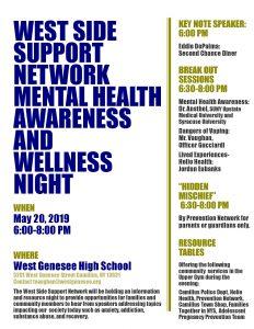 Mental Health Forum Flyer