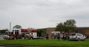 Picture of Fairmount Fire Dept with Simulated Crash Cars