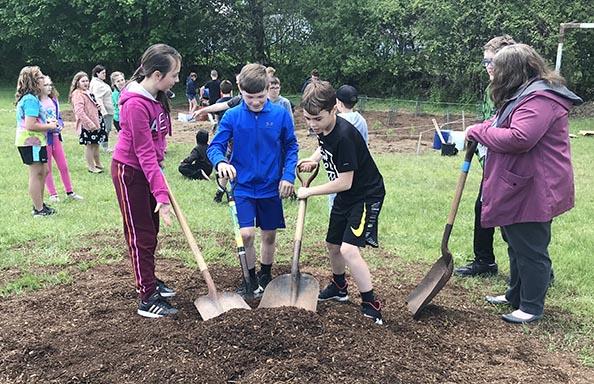 ST Community Garden Planting