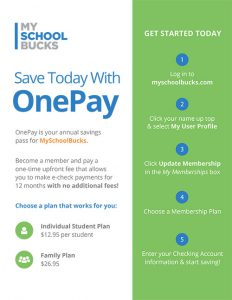 MySchoolBusck One-Pay Flyer Image