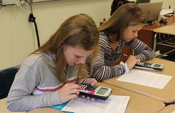 WGHS First Week Girls in Math