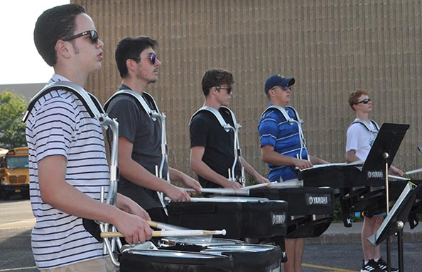 WGHS Marching Band Practice Drums
