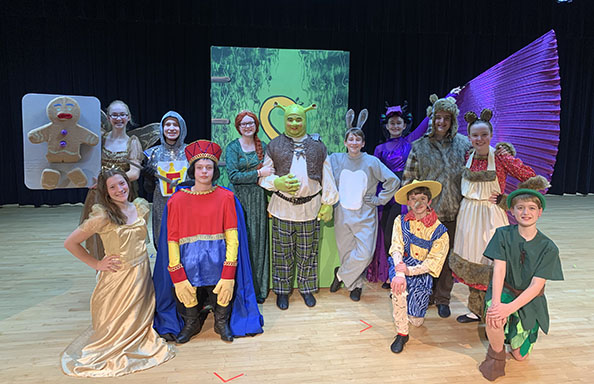 Cast of Shrek the Musical at CMS
