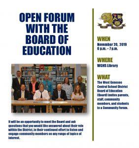 BOE Forum Flyer