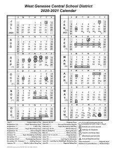 District 2020-2021 Calendar Revised 08/20/20