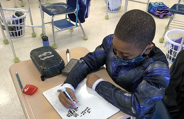 WGMS Boy in Class