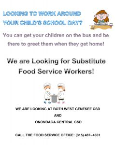 Flyer for Food Service Subs