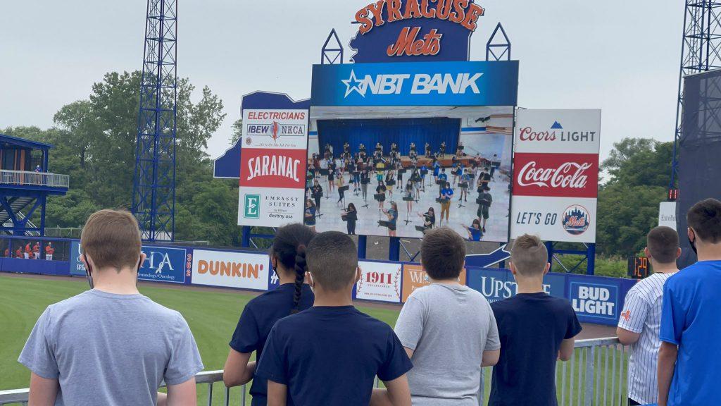 CMS Students Watch National Anthem