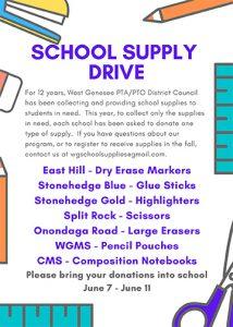School Supplies Drive Flyer